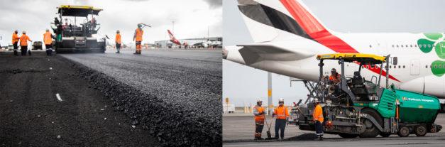 PlastiPhalt® being laid at Auckland International Airport