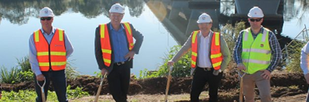 Sod turning marks commencement of major works on new Nowra Bridge