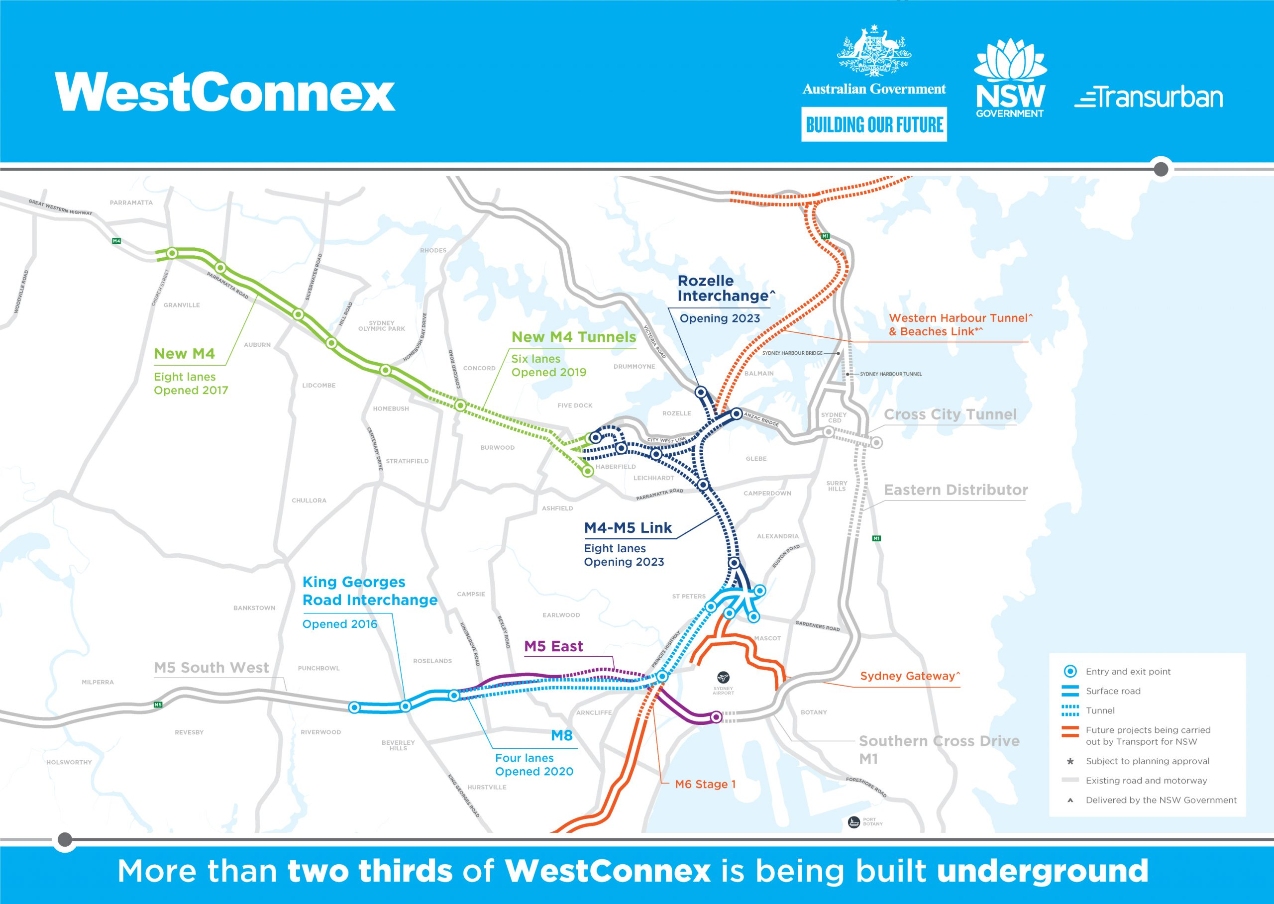 Fulton Hogan & Egis awarded operation & maintenance services for Stage 3 of Australia's largest road infrastructure project, WestConnex